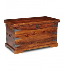 Clean wooden trunk or box