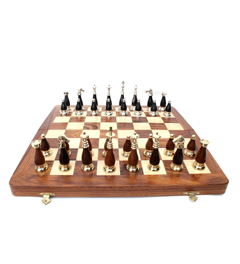 16 Inches Brass Chess Horn Set