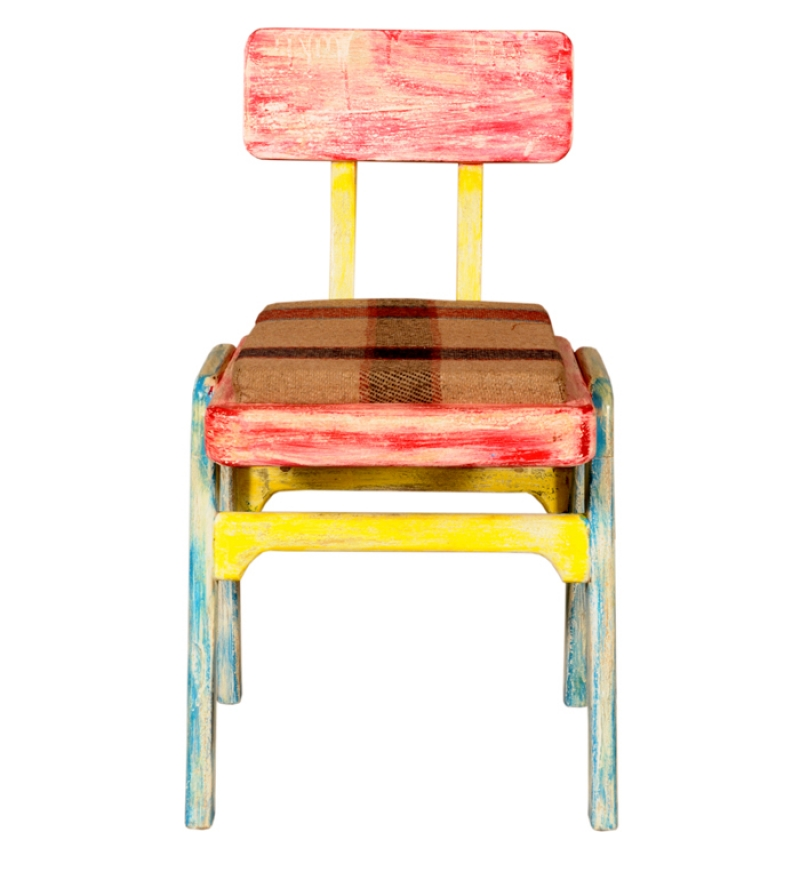 Colorful Industrial Mango Wood Chair