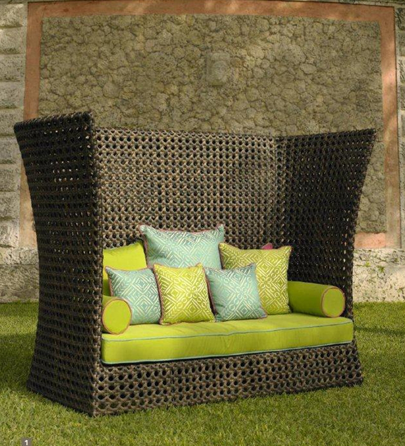GEBE Cappuccino Day Bed Cum Easy Chair for Outdoor
