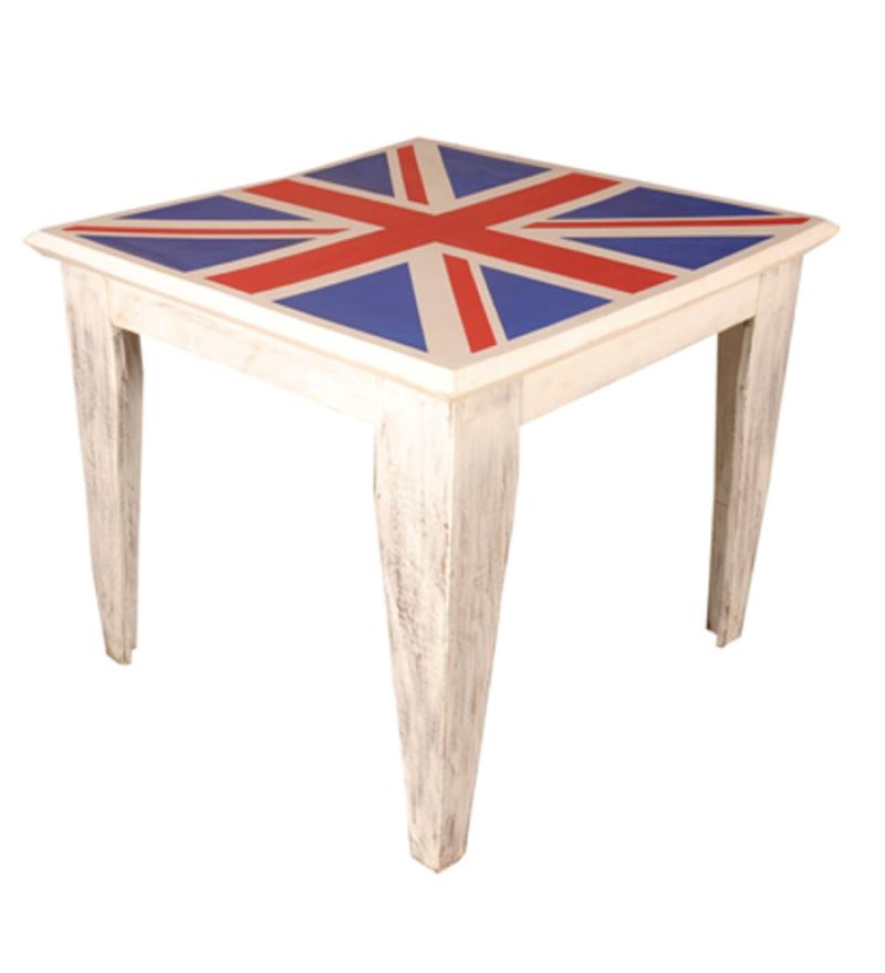 Sheesham Wood UK Flag Table