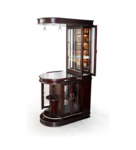 Sheesham Wood with Glass Bar Cabinet