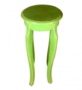 Trendy Green Old Wood Stool