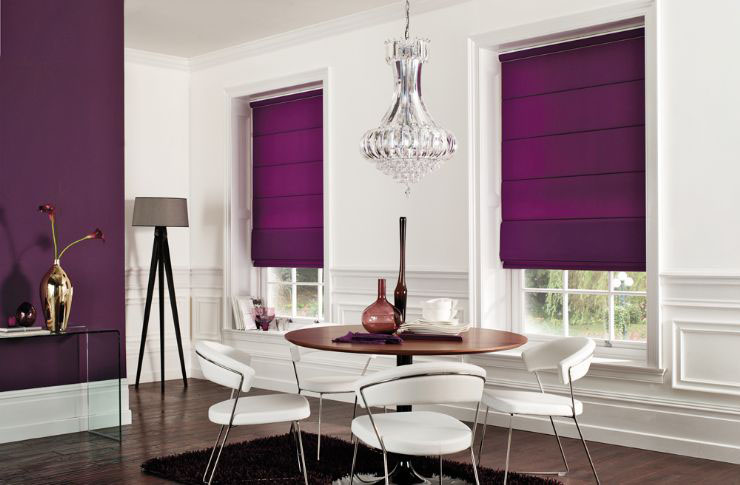 modern roman blinds