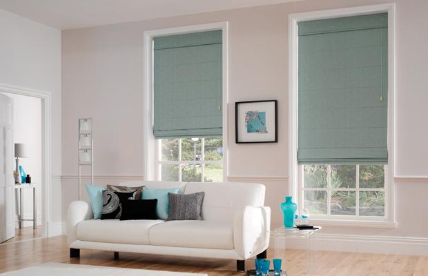 window roman blinds